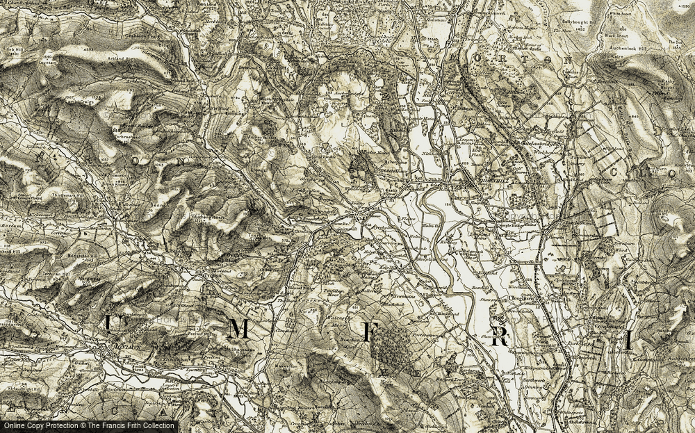 Old Map of Historic Map covering Woodhead in 1904-1905