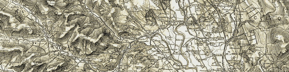Old map of Woodhead in 1904-1905