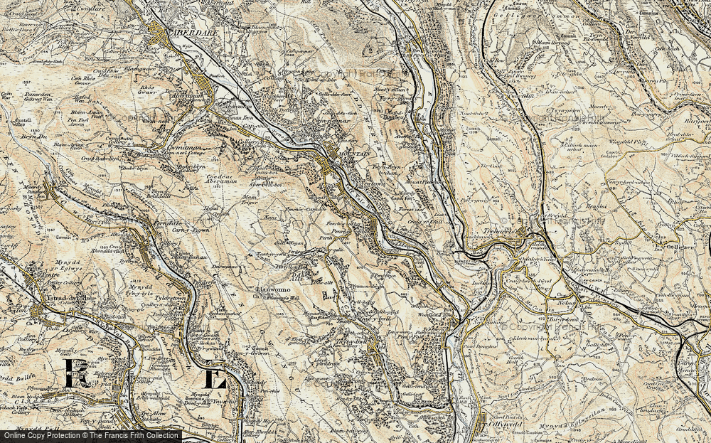 Old Map of Penrhiwceiber, 1899-1900 in 1899-1900