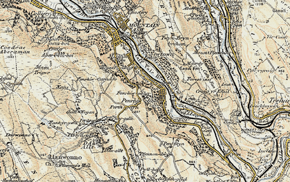 Old map of Penrhiwceiber in 1899-1900