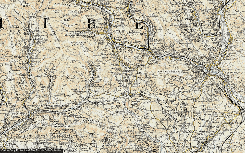 Old Map of Penrhiwfer, 1899-1900 in 1899-1900