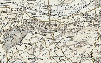 Old map of Afon Gwynon in 1900-1901