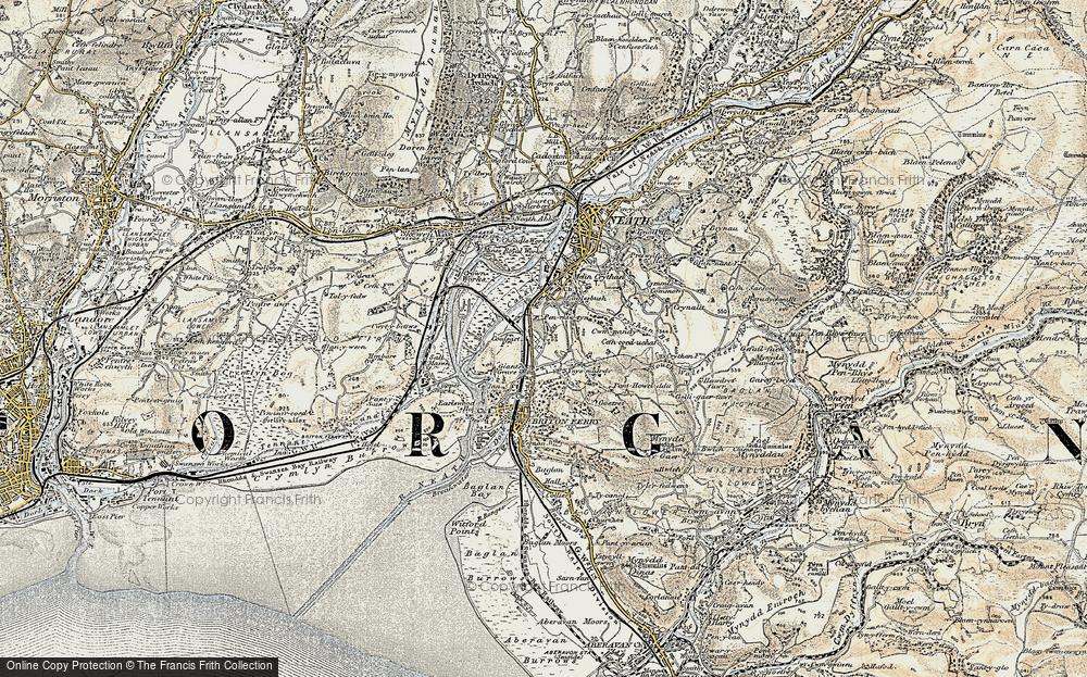 Old Map of Penrhiwtyn, 1900-1901 in 1900-1901
