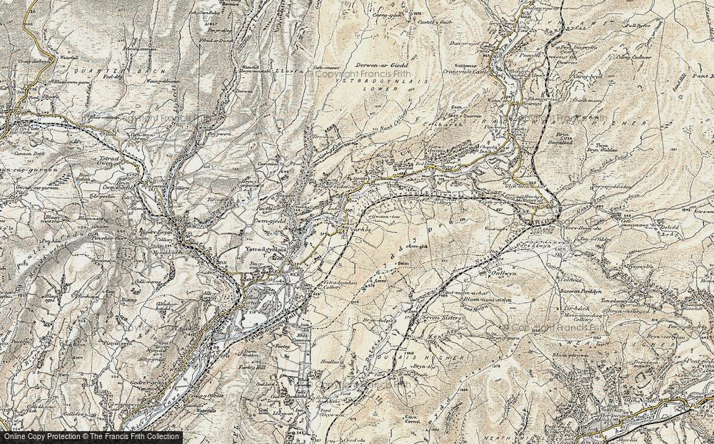Old Map of Penrhos, 1900-1901 in 1900-1901