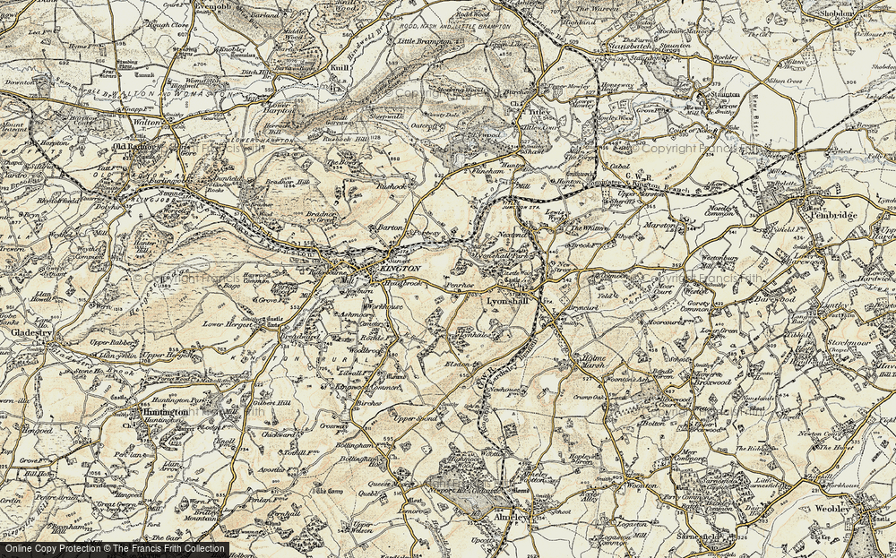 Old Map of Historic Map covering Bullocks Mill in 1900-1903