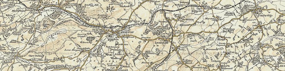 Old map of Bullocks Mill in 1900-1903