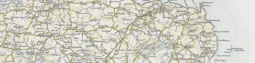 Old map of Ysgellog in 1903-1910