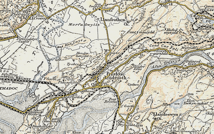 Old map of Penrhyndeudraeth in 1903