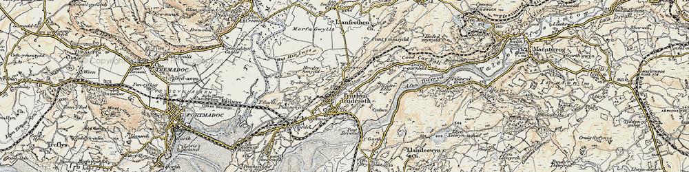 Old map of Penrhyndeudraeth in 1903