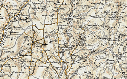 Old map of Penrose in 1900