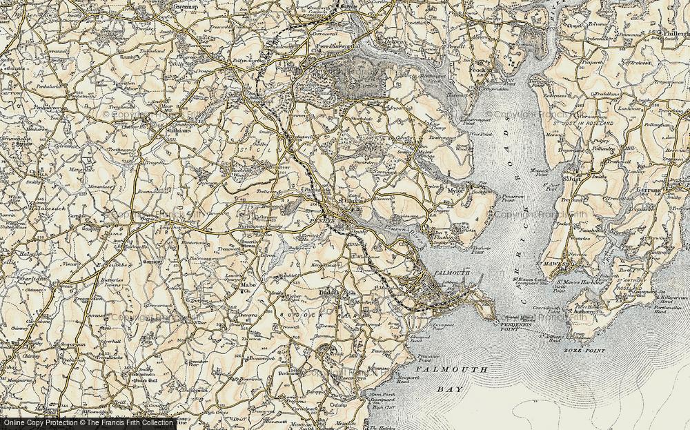 Old Map of Penryn, 1900 in 1900