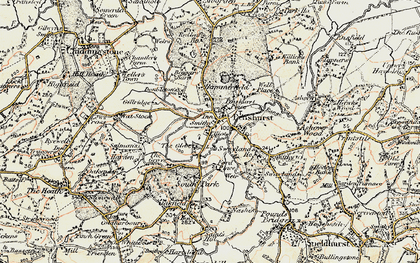 Old map of Penshurst in 1897-1898
