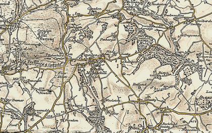 Old map of Pensilva in 1900