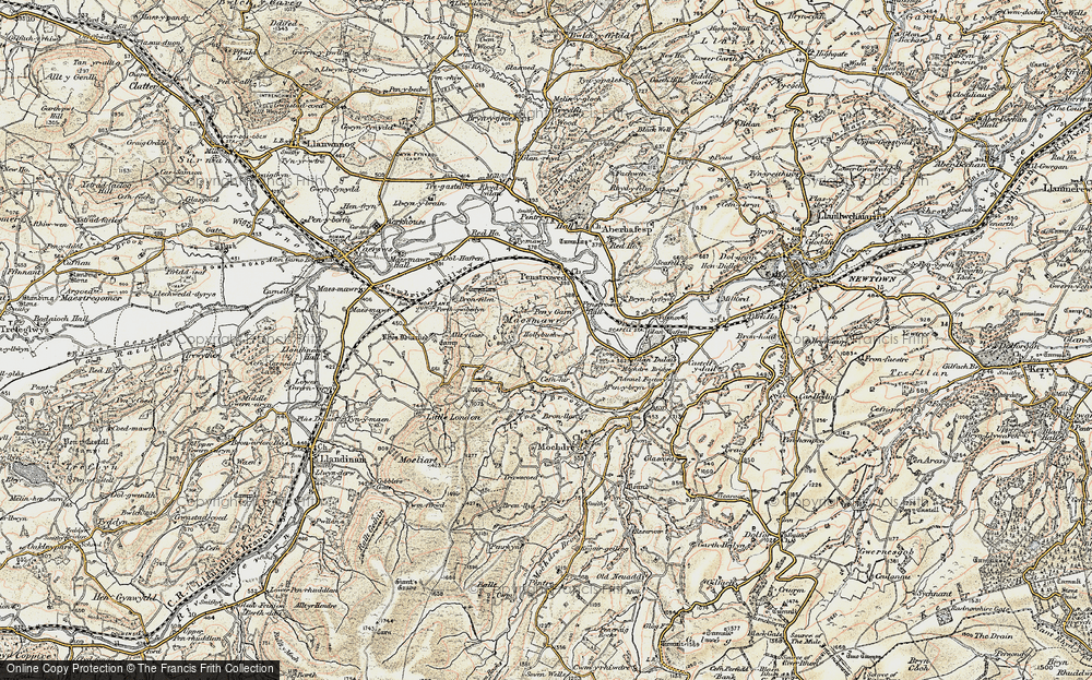 Old Map of Historic Map covering Allt y Gaer in 1902-1903