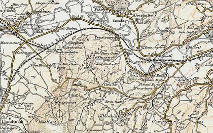 Old map of Allt y Gaer in 1902-1903
