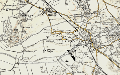 Old map of Ashwood Lodge in 1901-1902