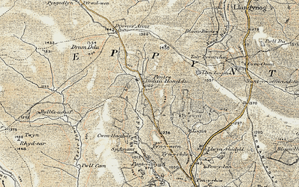 Old map of Ysgir Fawr in 1900-1902