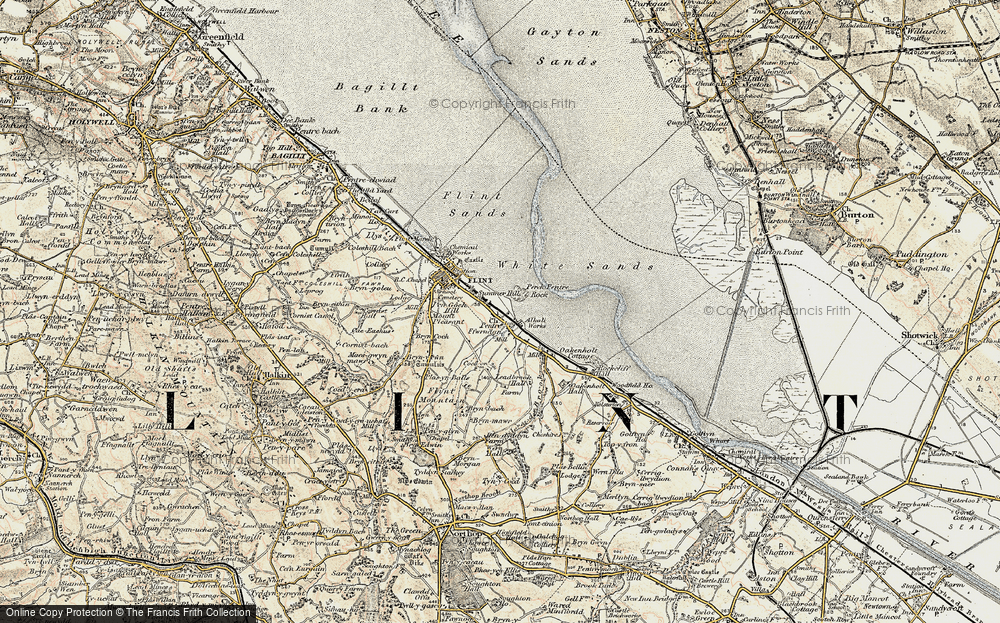 Old Map of Historic Map covering Leadbrook Hall in 1902-1903