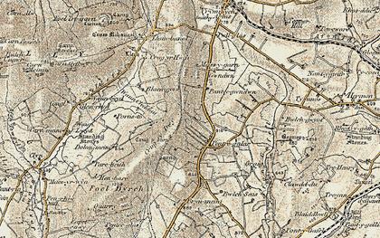 Old map of Wauncleddau in 1901