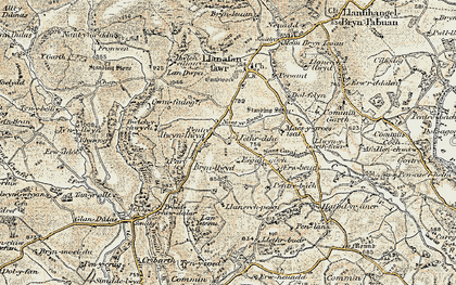 Old map of Afallenchwerw in 1900-1903