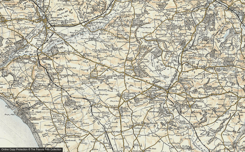 Old Map of Pentre Meyrick, 1899-1900 in 1899-1900
