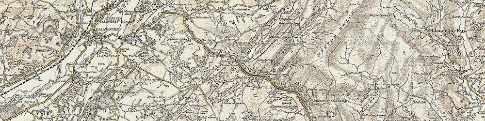 Old map of Allt y Ferdre in 1900-1901