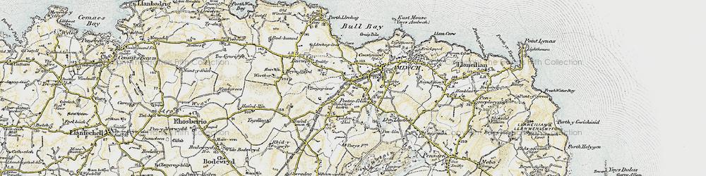 Old map of Pentrefelin in 1903-1910