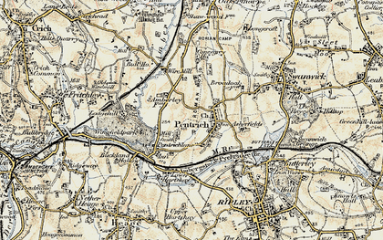 Old map of Asherfields in 1902