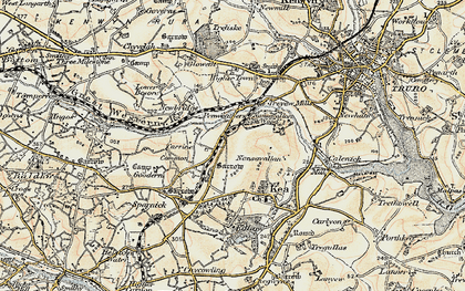 Old map of Penweathers in 1900