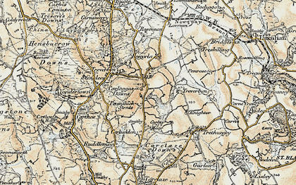 Old map of Penwithick in 1900