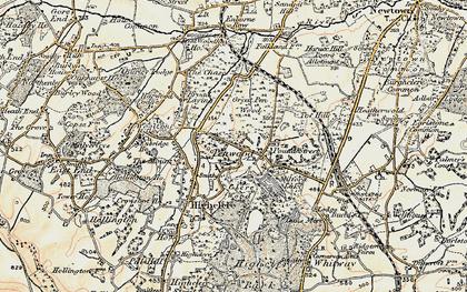 Old map of White Oak Ho in 1897-1900