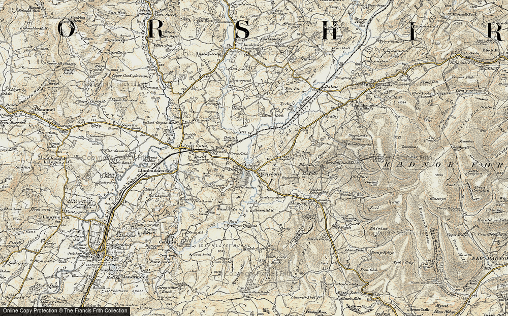 Old Map of Historic Map covering Abermithel in 1900-1903