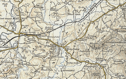 Old map of Abermithel in 1900-1903
