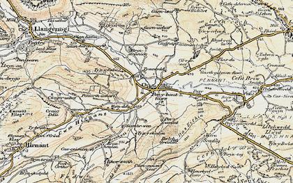 Old map of Penybontfawr in 1902-1903