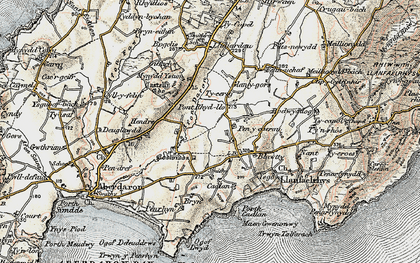 Old map of Ysgo in 1903