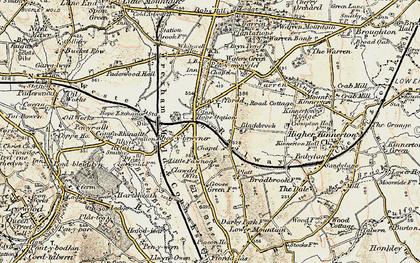 Old map of Penyffordd in 1902-1903