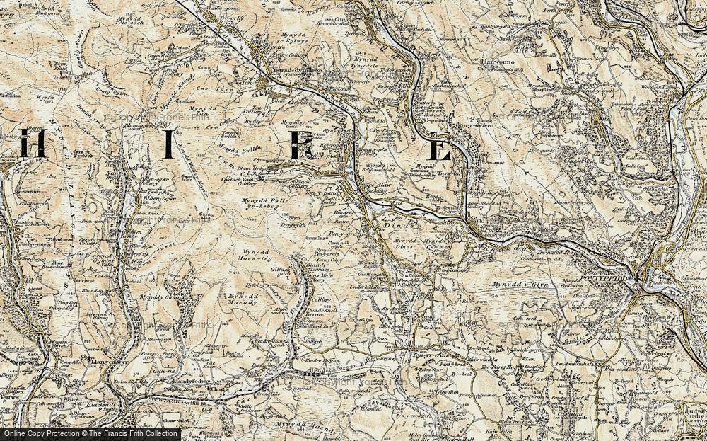 Old Map of Penygraig, 1899-1900 in 1899-1900