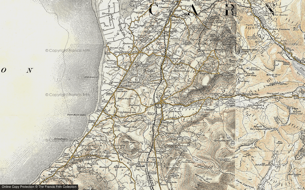 Old Map of Penygroes, 1903 in 1903