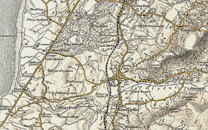 Old map of Penygroes in 1903