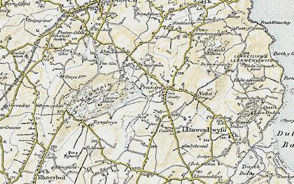 Old map of Penysarn in 1903-1910