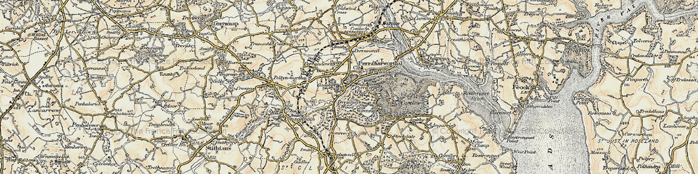 Old map of Perran Wharf in 1900