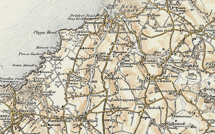 Old map of Perrancoombe in 1900