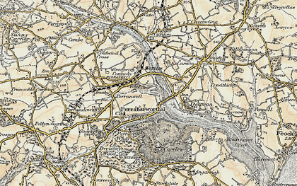 Old map of Perranwell Station in 1900