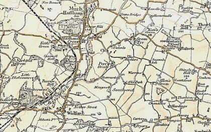 Old map of Perry Green in 1898-1899