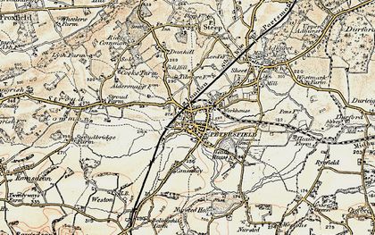 Old map of Petersfield in 1897-1900