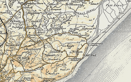 Old map of Pett in 1898