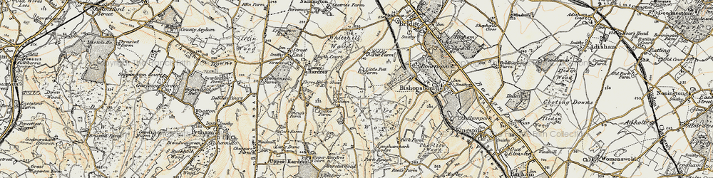 Old map of Gorsley Wood in 1898-1899