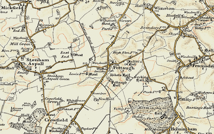 Old map of Winston Green in 1898-1901