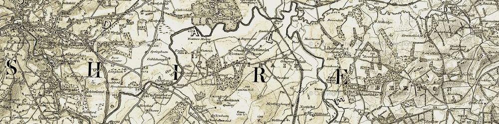 Old map of Westown in 1904-1905