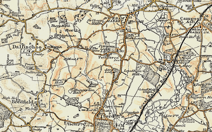 Old map of Pettistree in 1898-1901
